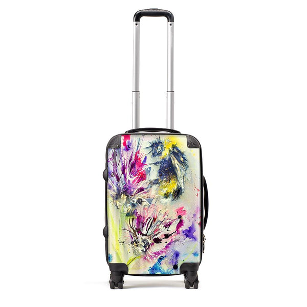 Bee On Purple Flower - Suitcase by Jo Allsopp