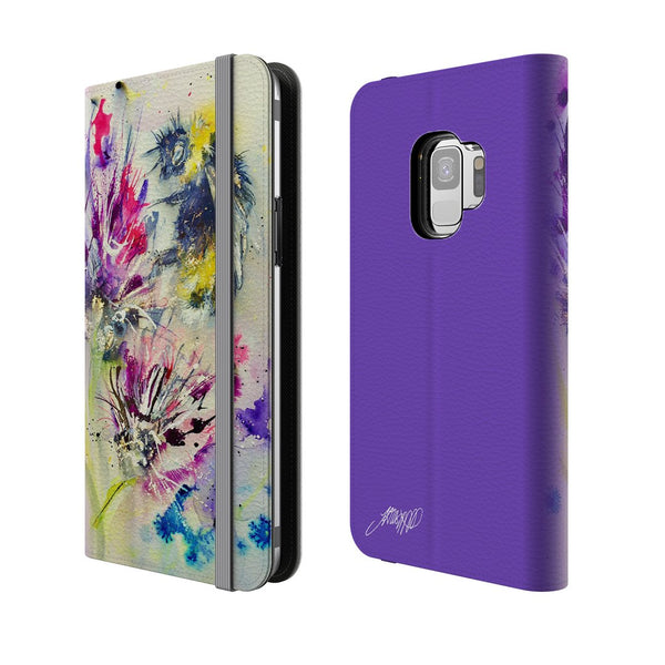 Bee On Purple Flower - Flip Phone Case