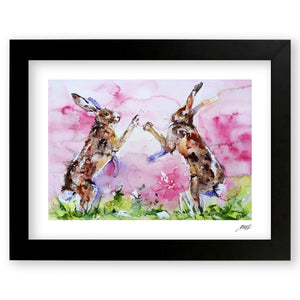 Framed Watercolour Hare Print by Jo Allsopp