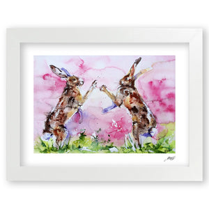 Iconic Watercolour Hare Print by Jo Allsopp