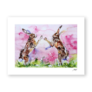 Watercolour Hare Print by Jo Allsopp