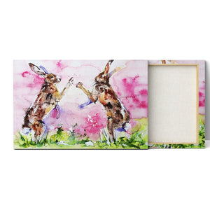 Watercolour Hare Canvas Art