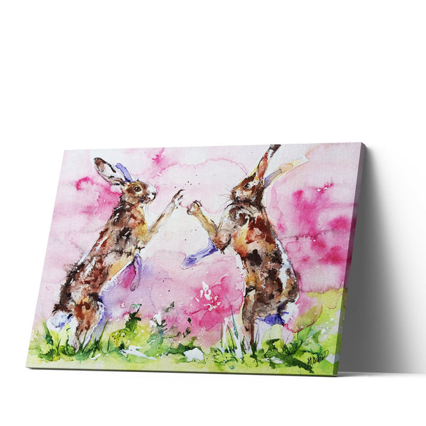 Watercolour Hare Canvas Print by Jo Allsopp
