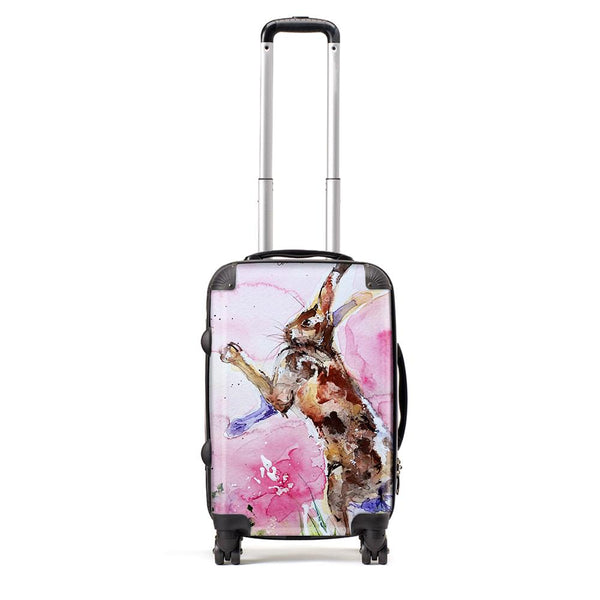 Boxing Hares - Suitcase by Jo Allsopp