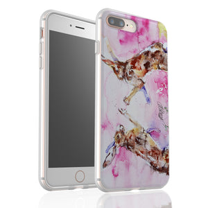 Boxing Hares By Jo Allsopp - Flexi Phone Case