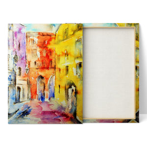 French Buildings - Canvas Print by Jo Allsopp