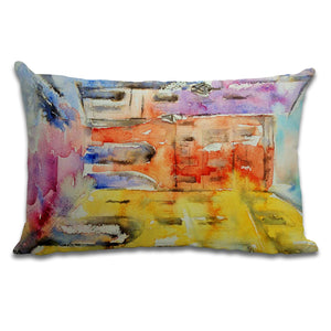 French Buildings - Cushion by Jo Allsopp