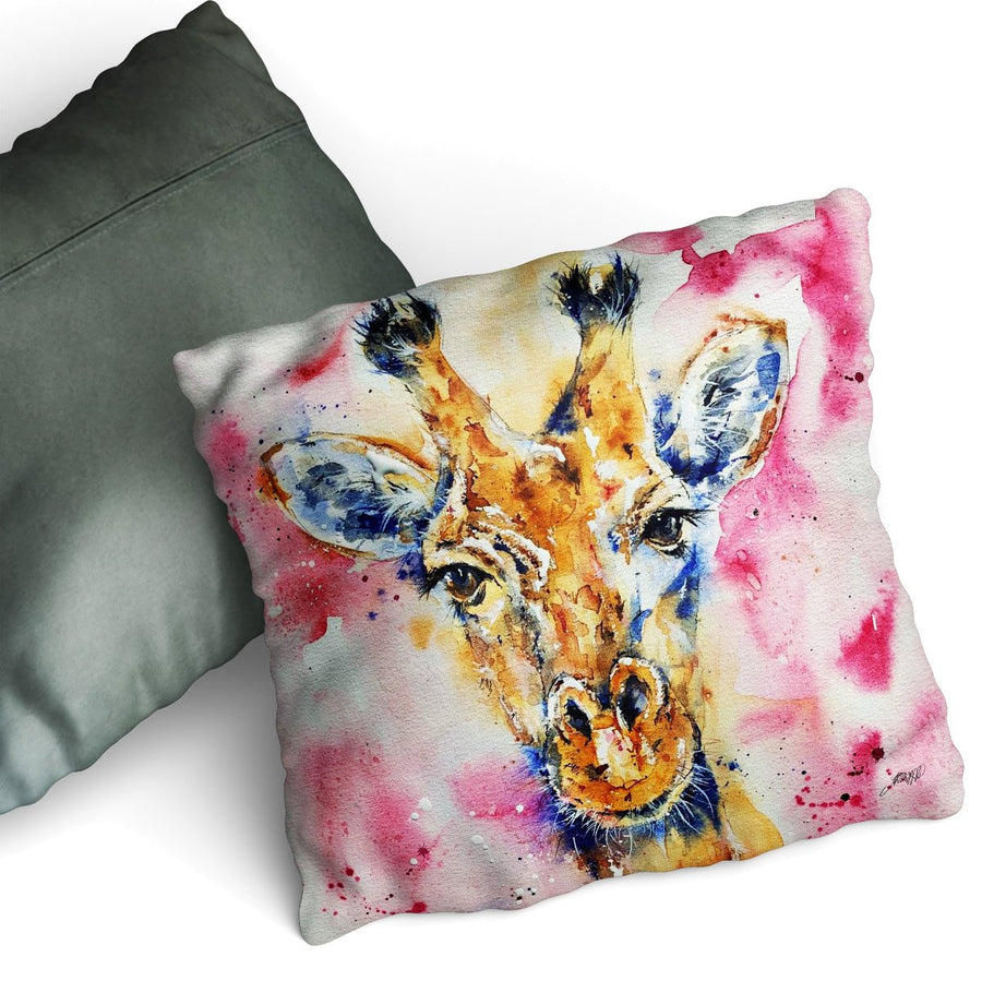 Geri Giraffe - Cushion by Jo Allsopp