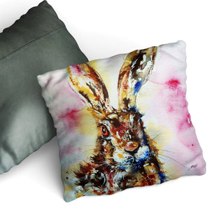 Hare - Cushion by Jo Allsopp