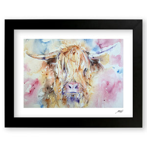 Highland Cow - Art Print by Jo Allsopp
