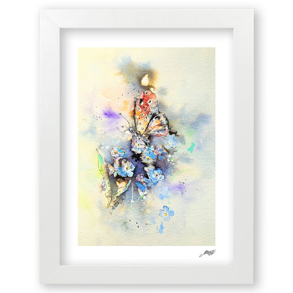 Inky Butterfly - Art Print by Jo Allsopp