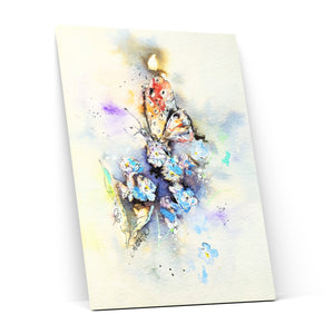 Inky Butterfly - Canvas Print by Jo Allsopp