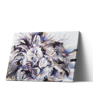 Lion Monochrome - Canvas Print by Jo Allsopp