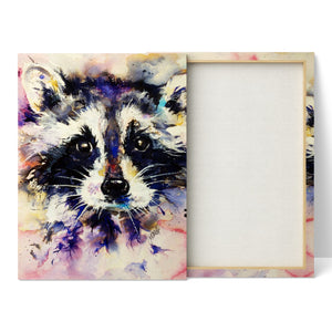Racoon - Canvas Print by Jo Allsopp