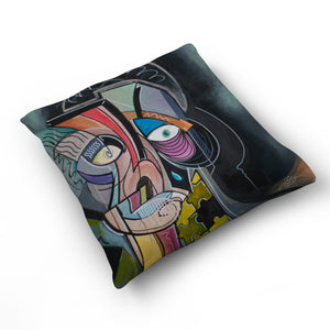 The Missing Piece - Cushion by Julian McLaughlan