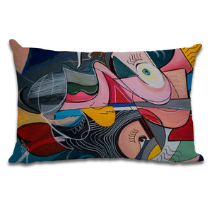 Anxiety #2 - Cushion by Julian McLaughlan