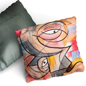 Confused - Cushion by Julian McLaughlan