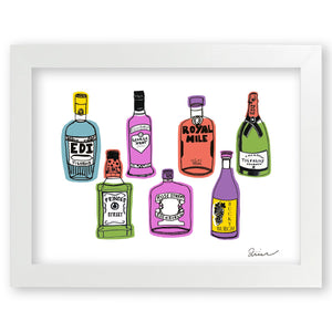 What's Ya Tipple? - Art Print by Zoe Neill