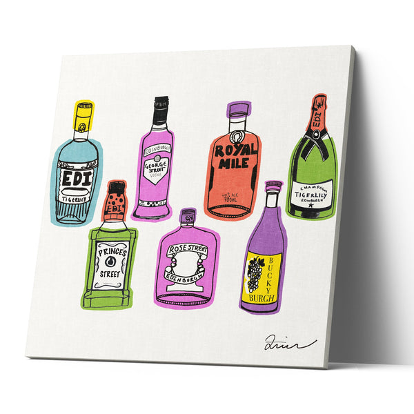 What's Ya Tipple? - Canvas Print by Zoe Neill