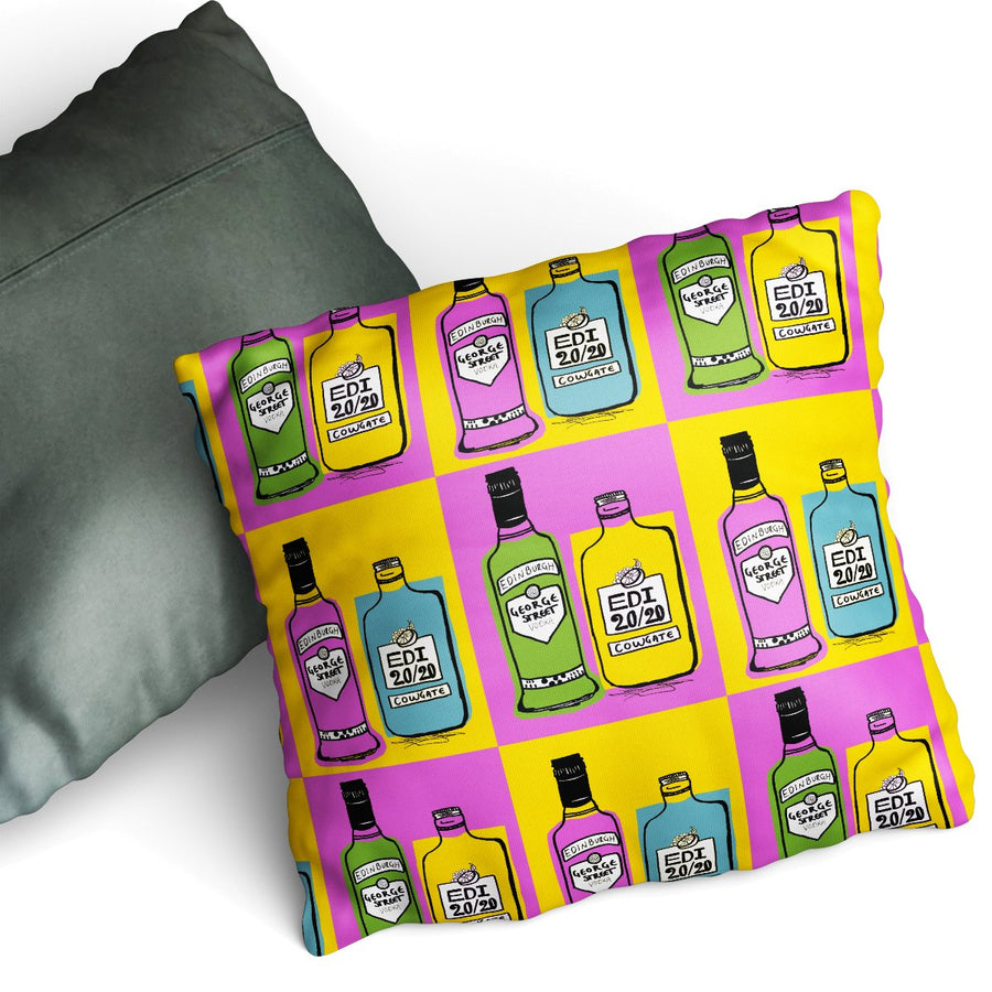 Edi Tipples - Cushion by Zoe Neill