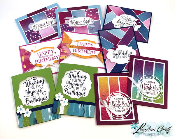 Artistry Blooms Cards tutorial only