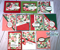 Berry Blessings 10 cards One Sheet Wonder kit