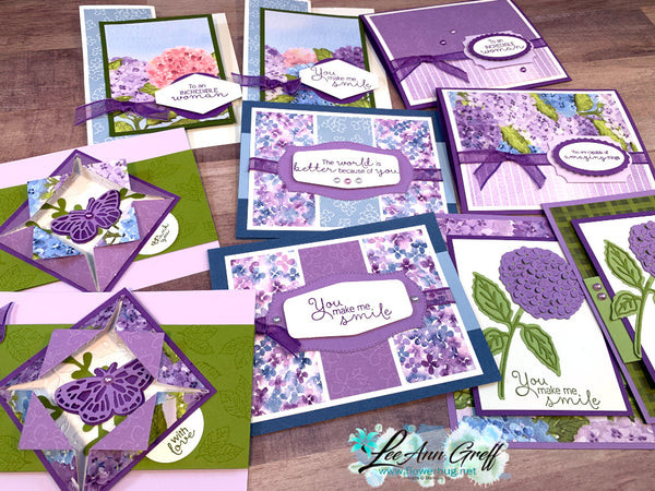 Hydrangea Haven Cards PDF Tutorial