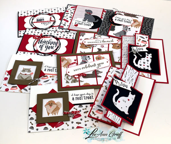 Playful Pets Cards tutorial