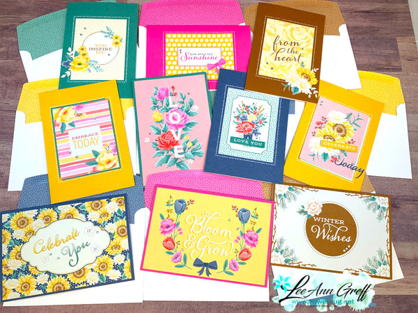 Season of Flowers Cards Kit to go