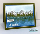 Mountain Air Scenic cards tutorial