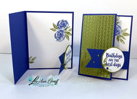 Noble Peacock Fun-Fold Cards tutorial