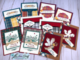 Both October Card kits; Plaid Tidings & Heartwarming Hugs!