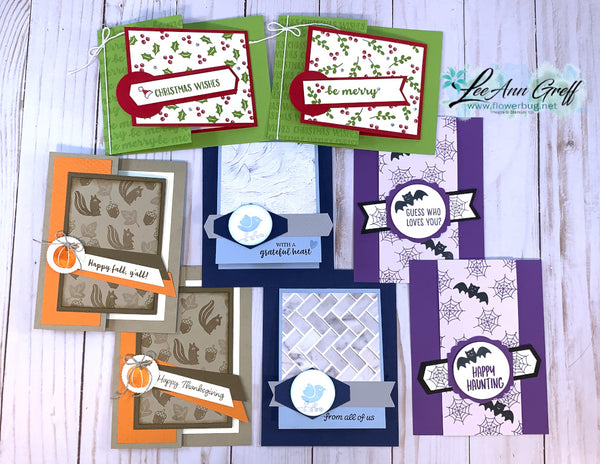 Banner Year cards kit with stamp set!