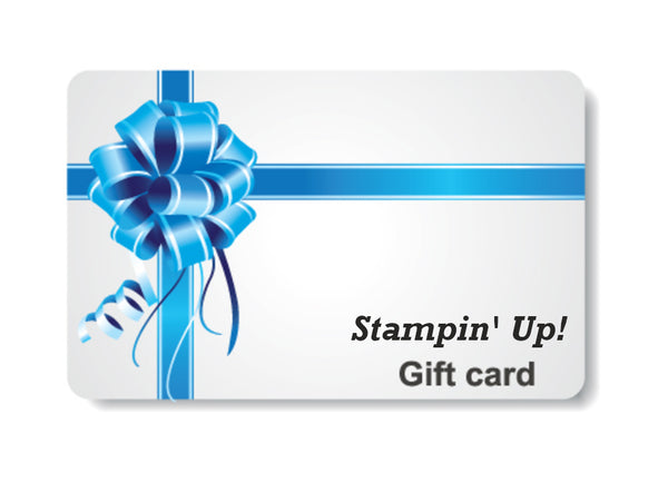 Stampin' Up! gift card
