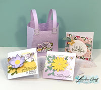 Best Dressed Tutorial with Fun Fold cards, cute bag with mini cards