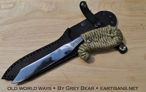 Atholine, Hand Forged Utility/Fighter & Ritual Blade by Grey Bear - 9 inch