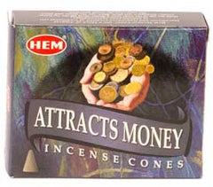 Attracts Money HEM Cone Incense