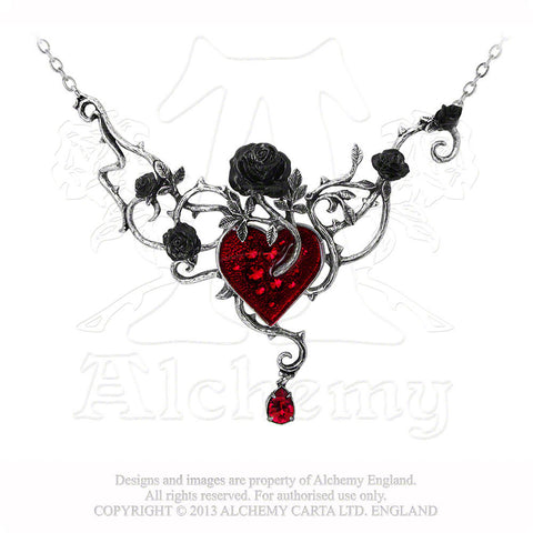 Bed of Blood Roses Necklace