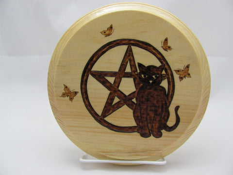 Black Cat Altar Tile Paten