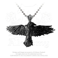 Black Raven Necklace