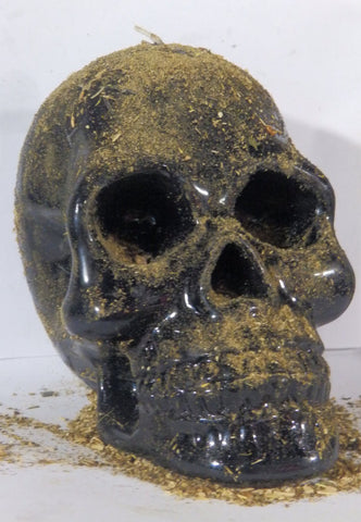 Large Conjure Skull Spell Candle for Unhexing, Uncrossing and Reversing