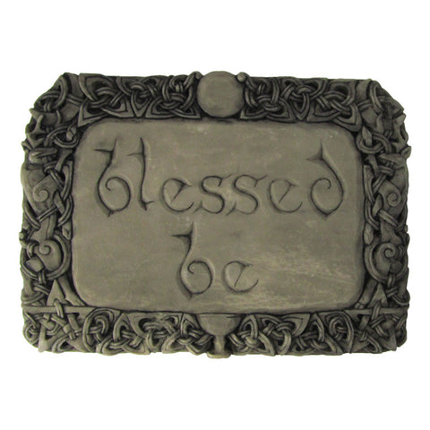 Blessed Be Plaque - Stone Finish
