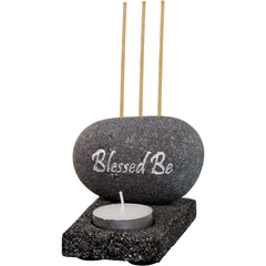 Blessed Be Tea Light And Incense Holder