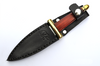 Baby Red Athame-Handforged Damascus Blade With Bloodwood Handle-8.25 inch