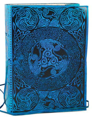 Blue Celtic Leather Blank Book w/Latch