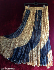 Boho Breeze Patchwork Skirt-Free Size-Yellow/Blue
