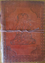"Buddha Leather Blank Book with Cord 5"" x 7"""