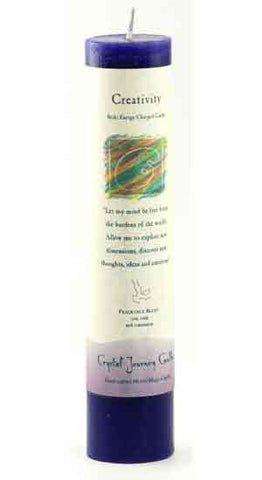 Creativity Reiki Charged Pillar Candle