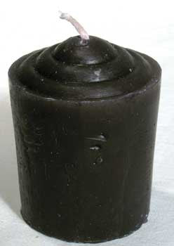 Black Votive Candle 15 hr