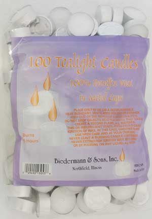 Tea Lights Candles Bulk 100/bag